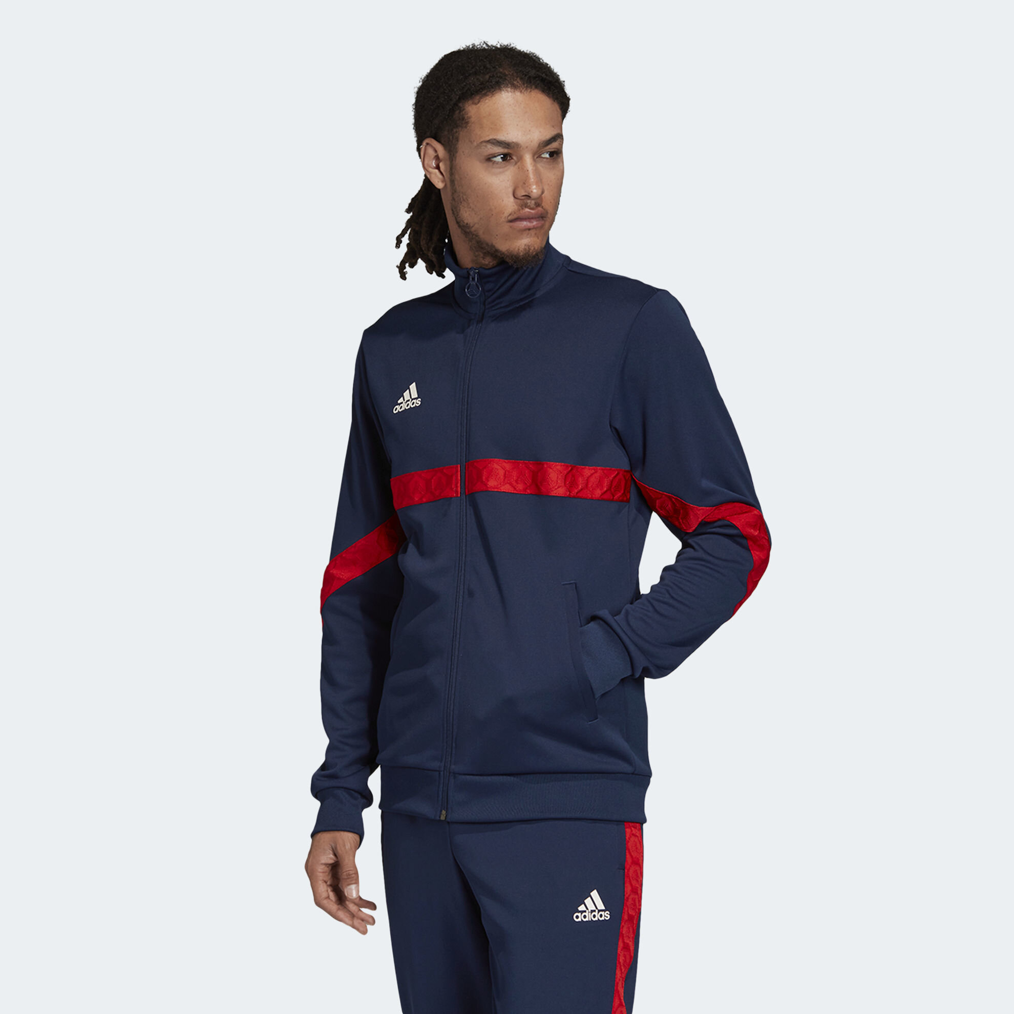 Adaptar barricada Montgomery  adidas TAN Tape Clubhouse Track Top | adidas Egypt Official Website