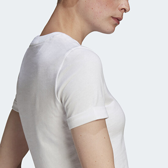 Picture of Adicolor Classics Roll-Up Sleeve Crop Top