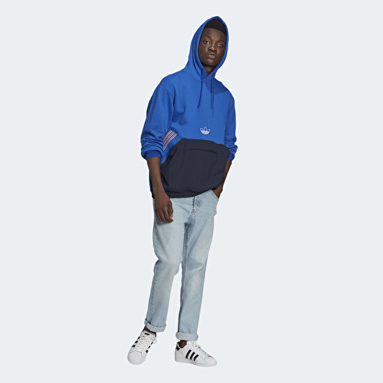 Picture of SPRT Archive Mixed Material Sweat Hoodie