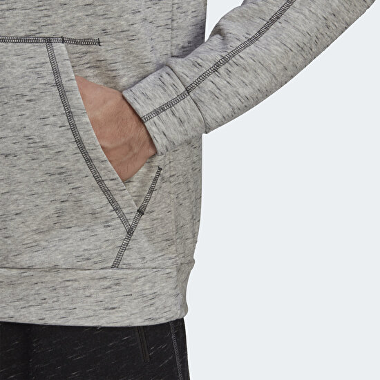 Picture of Essentials Mélange Embroidered Small Logo Hoodie