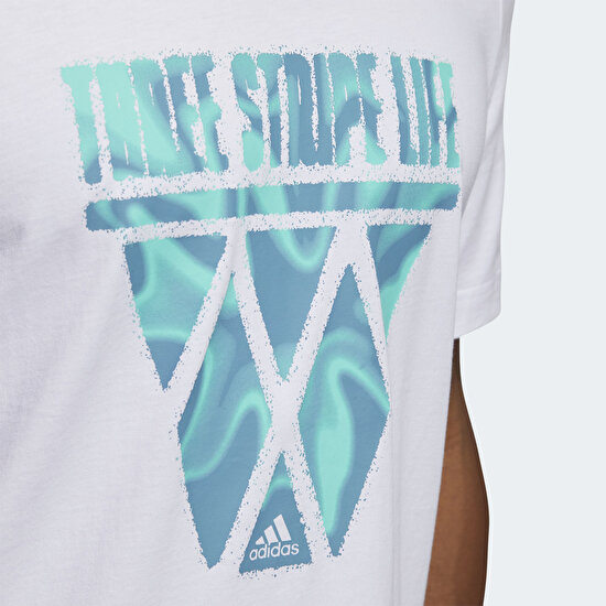Picture of Three Stripe Life Hoops Graphic Tee