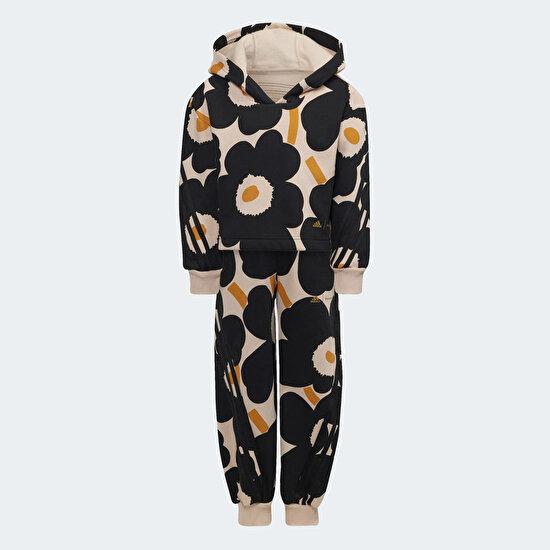 Picture of Marimekko Primegreen Warm-Up Winter Fleece 3-Stripes Floral Hoodie and Pants